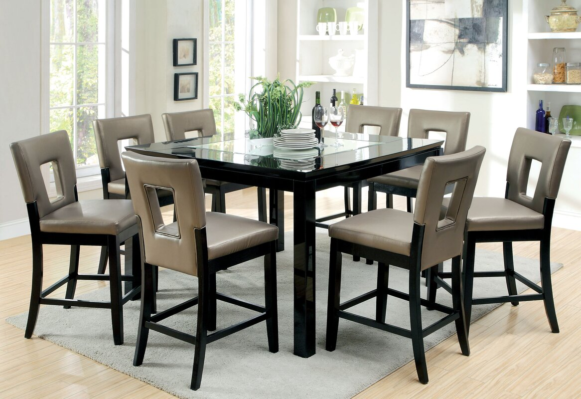 9 piece counter height dining set infini furnishings for 9 piece dining room set counter height
