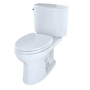 Drake II 1.28 GPF Elongated Two-Piece Toilet (Seat Not Included) By Toto