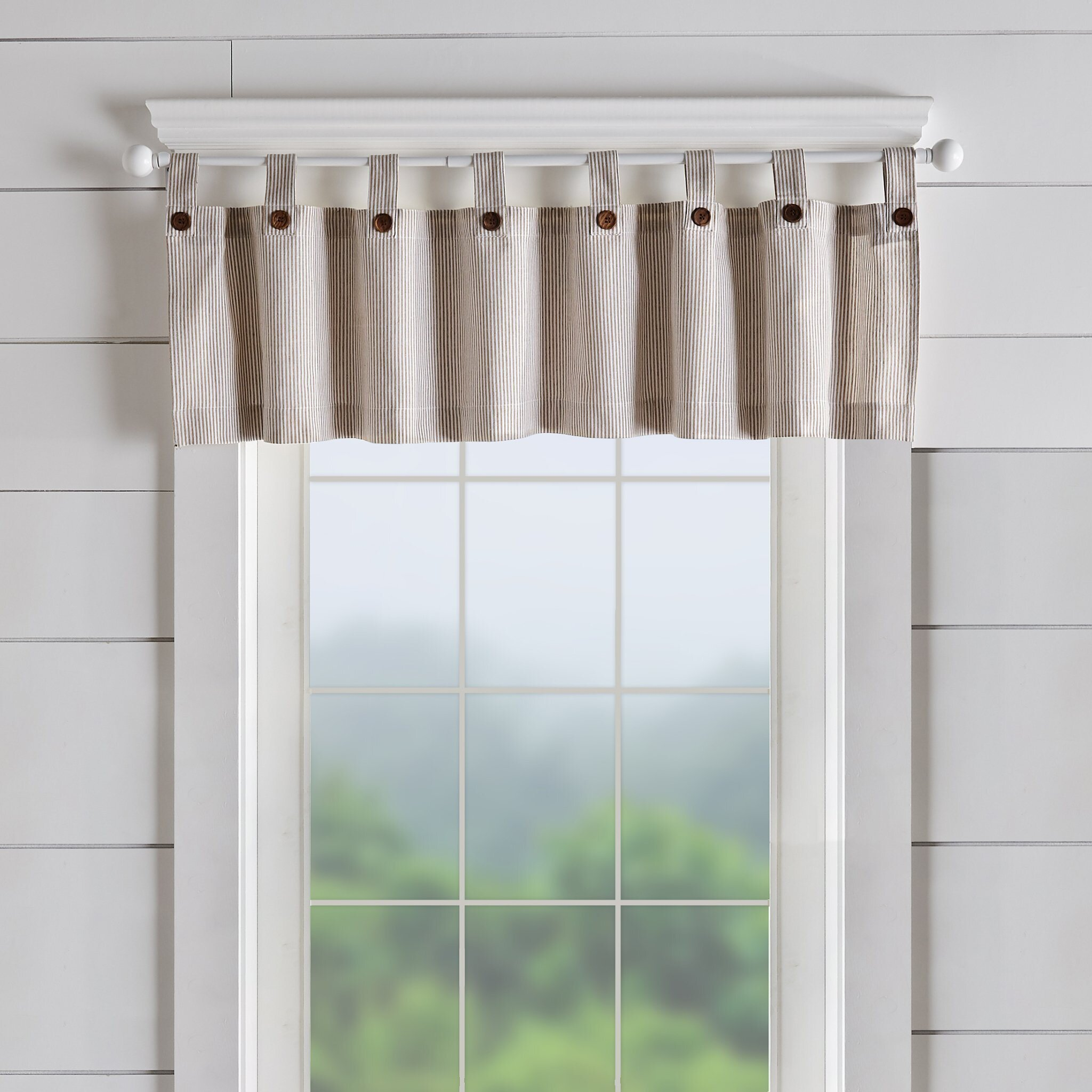 Striped Tab Top Valances Kitchen Curtains You Ll Love In 2021 Wayfair