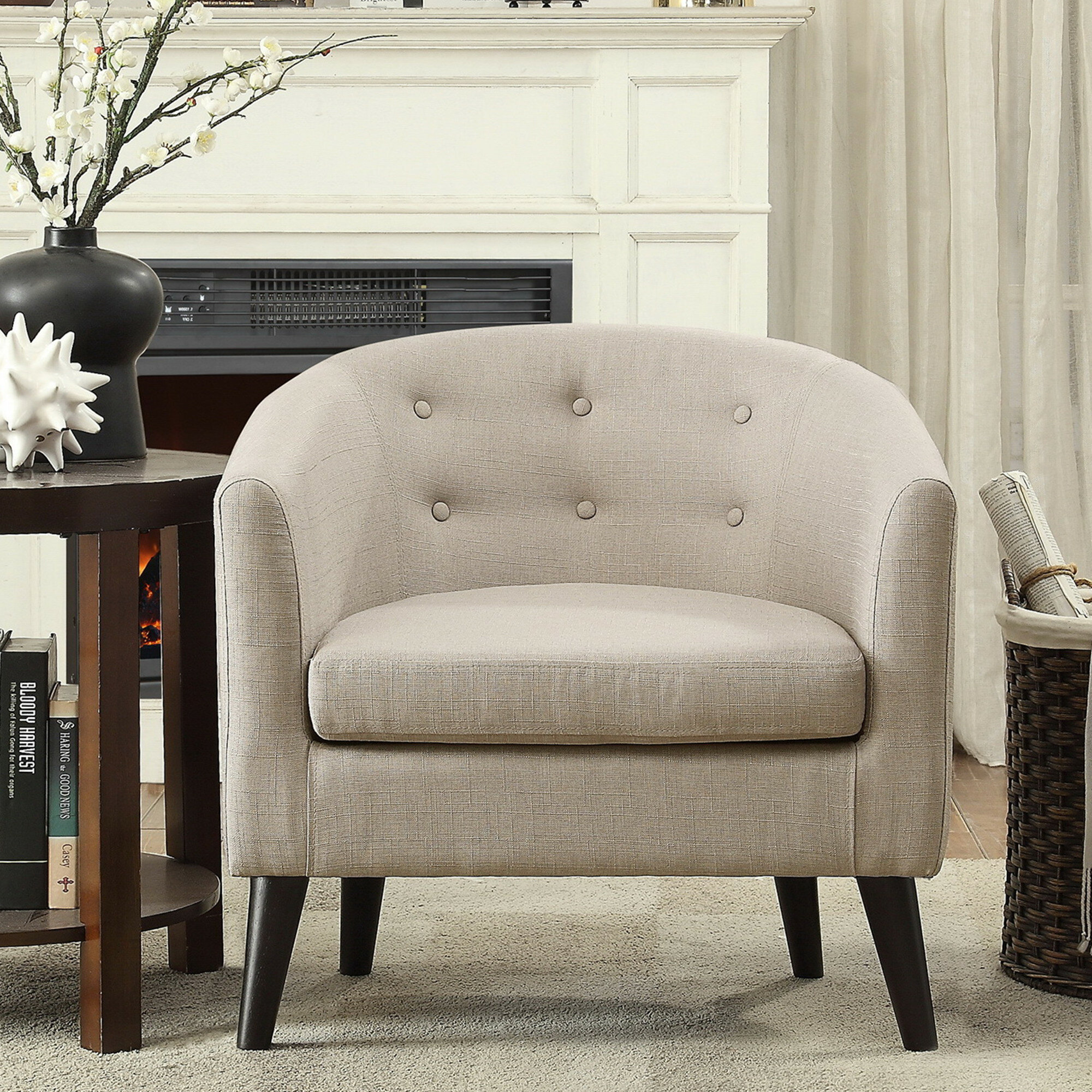 Zipcode design phipps barrel chair reviews wayfair