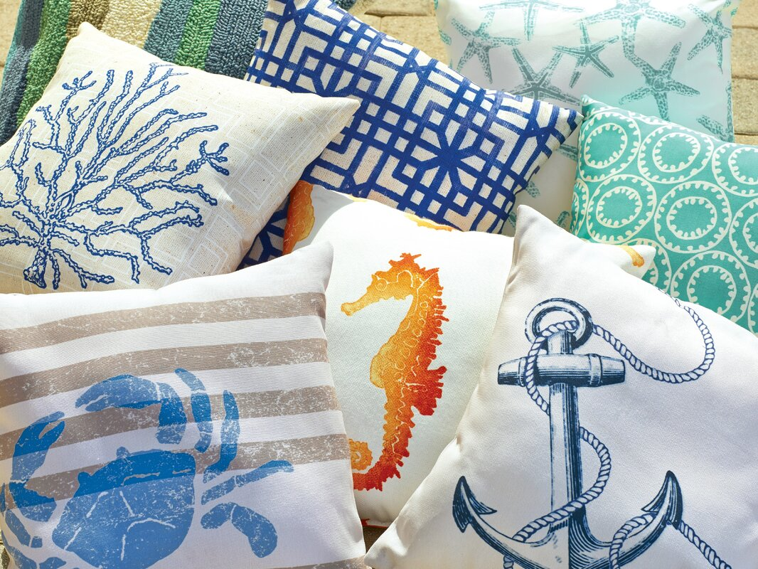 Sweetwood Anchor Outdoor Throw Pillow