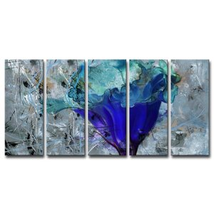 Painted Petals LX 5 Piece Painting Print on Wrapped Canvas Set by Ready2hangart