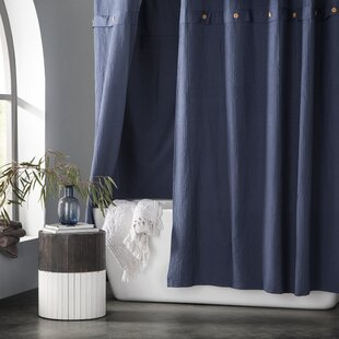Bargain Carmella Waffle 100% Cotton Shower Curtain By Eider & Ivory