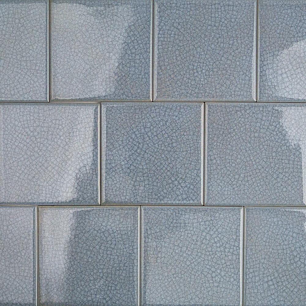Splashback Tile Roman Selection 4 X 4 Glass Filed Tile In Blue