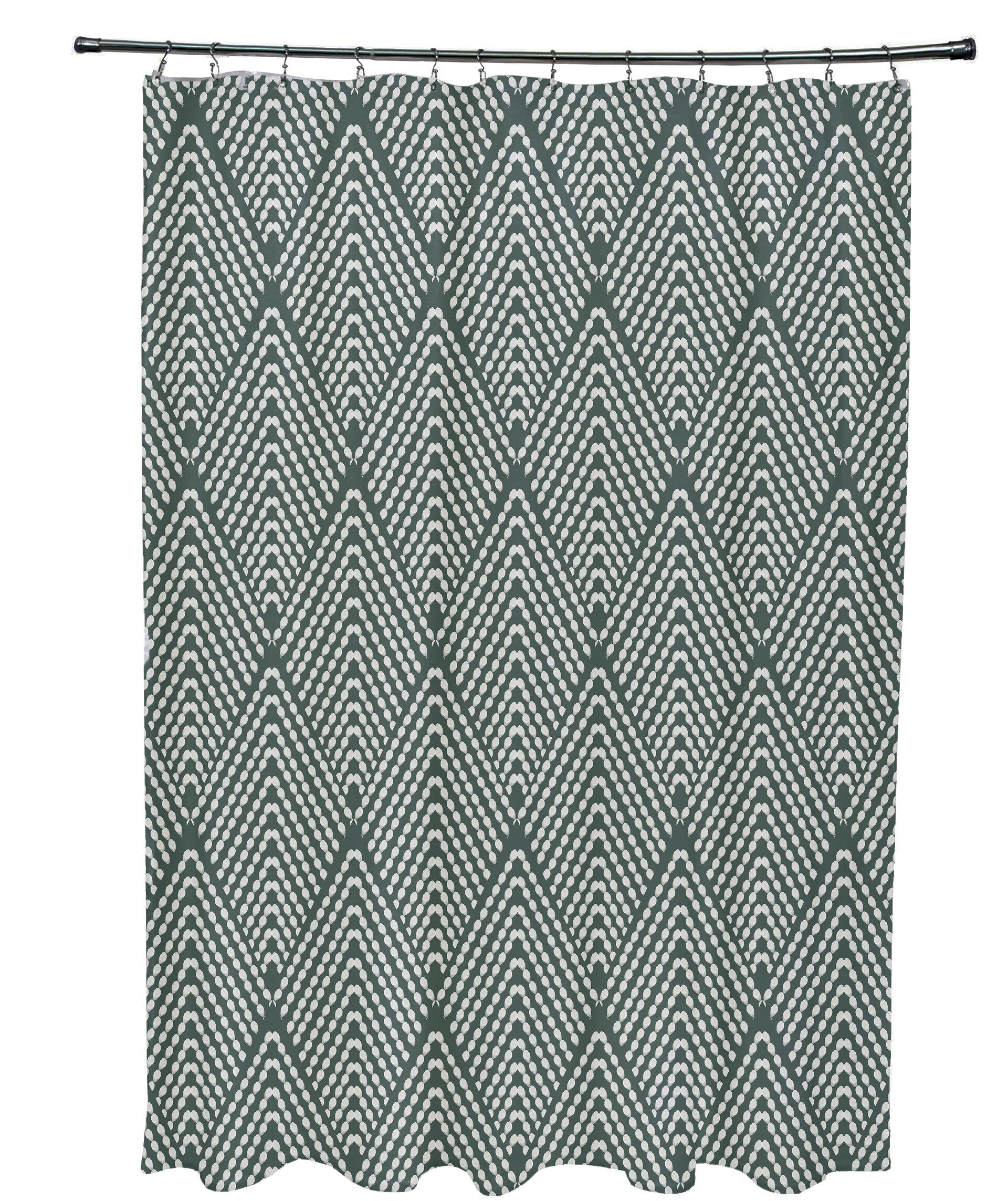 Mistana Leia Geometric Shower Curtain