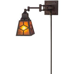 Bargain Greenbriar Oak 1-Light Outdoor Wall Lantern By Meyda Tiffany