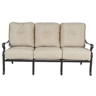 Colstrope Sofa Patio Chair with Cushions By Fleur De Lis Living