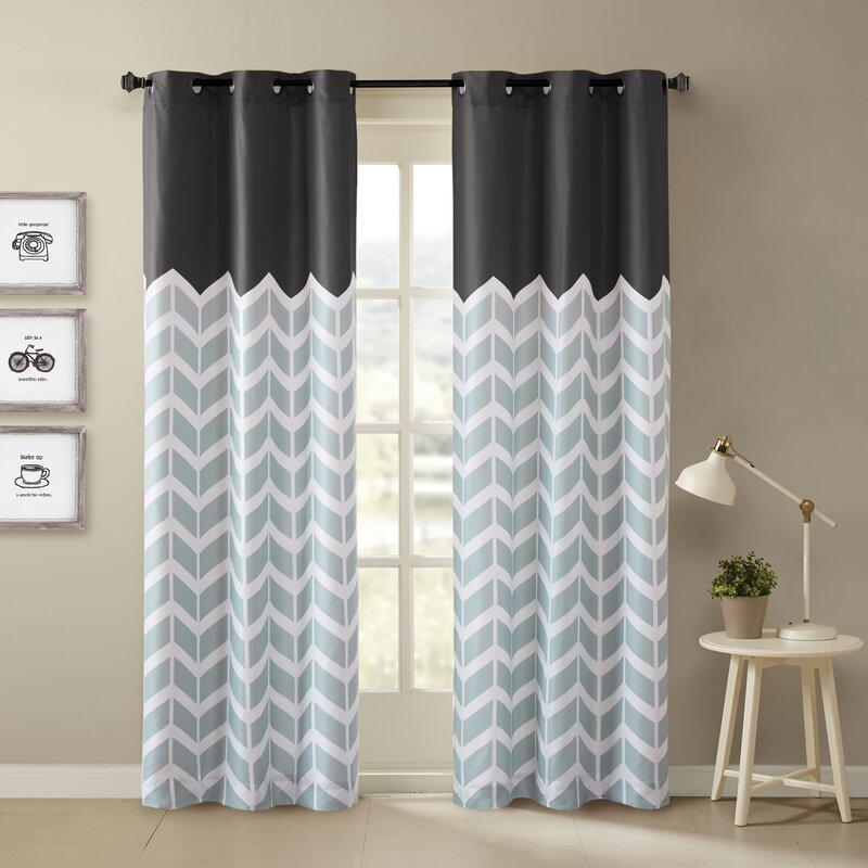 Intelligent Design Alex Chevron Semi Sheer Curtain Panels Reviews