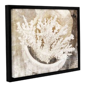'Sea Treasure I' Framed Graphic Art Print on Canvas by Highland Dunes