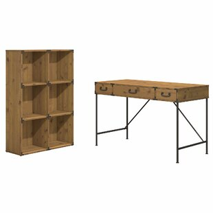 Deals Ironworks 2 Piece Desk Office Suite By Kathy Ireland Office by Bush