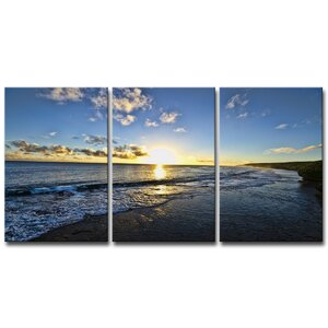 'Day Break' by Chris Doherty 3 Piece Photographic Print on Canvas Set by Ready2hangart