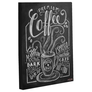 'Premium Coffee' Vintage Advertisement on Wrapped Canvas by Andover Mills