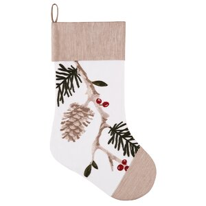 Natural Pines Chain Stitch Stocking