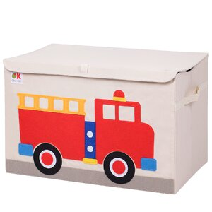Olive Kids Fire Truck Toy Box