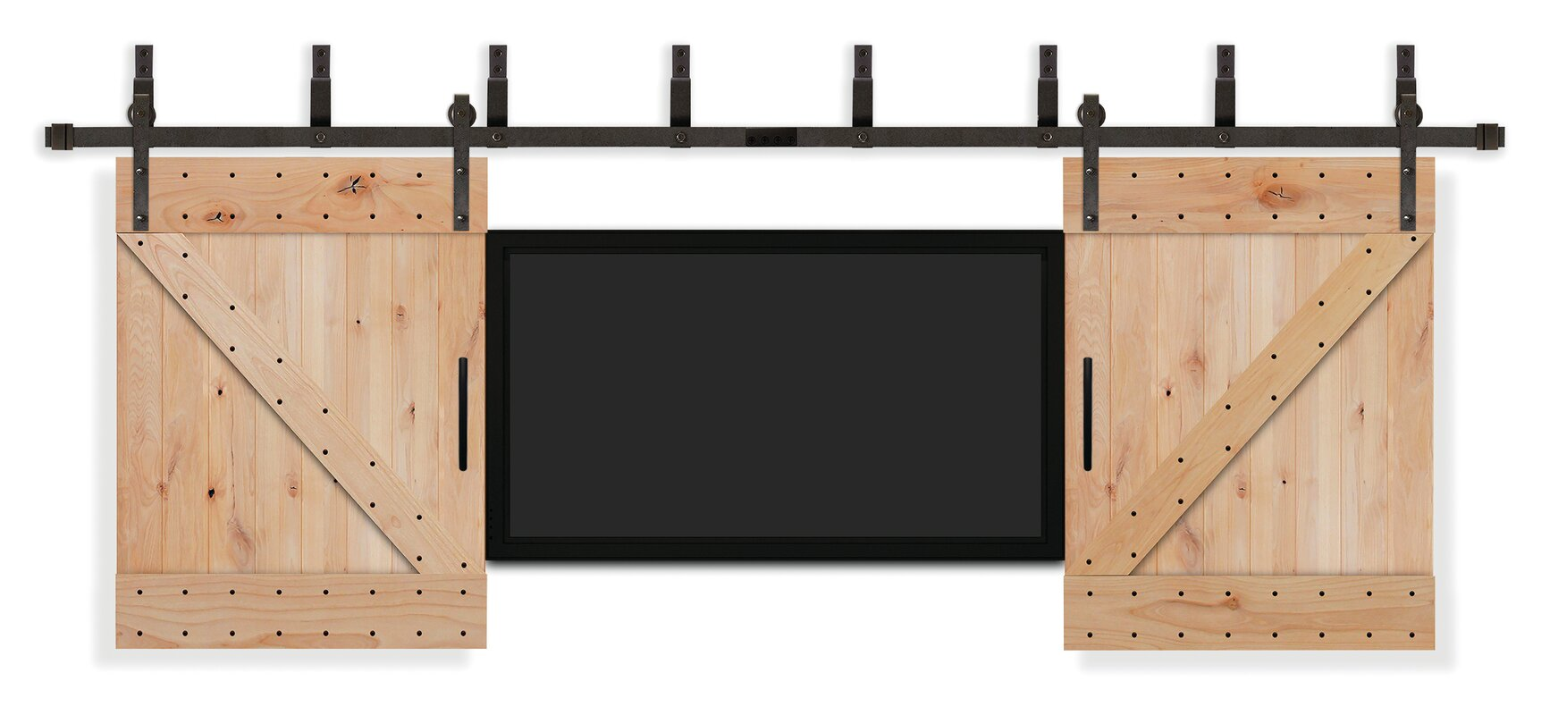 Rustic Knotty Alder Unfinished Tv Interior Barn Door