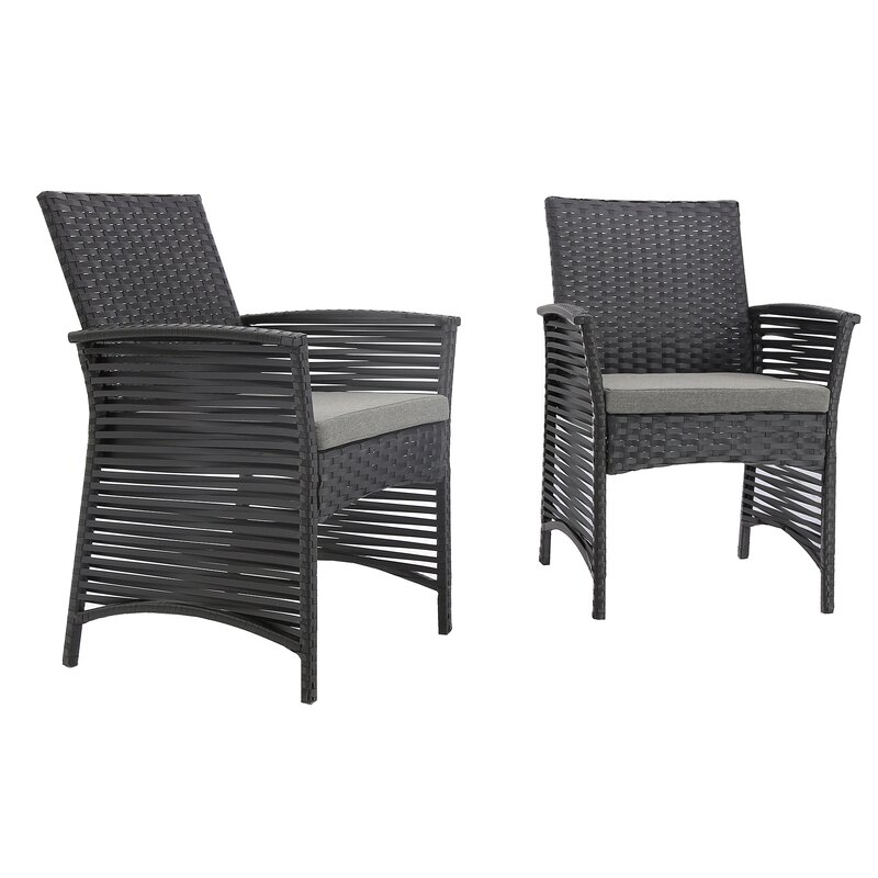 Bay Isle Home Codman Backyard Pool Steel Frame Patio Chair With