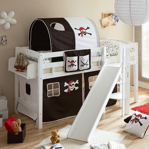 Hochbett Tricia mit Rutsche| 90 x 200 cm Roomie Kidz Farbe: Weiß | Kinderzimmer > Kinderbetten > Hochbetten | Roomie Kidz
