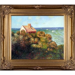 Fishermans Cottage at Varengeville' by Claude Monet Framed Painting on Canvas by Tori Home