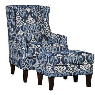 Huckins Wingback Chair and Ottoman