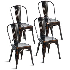 javier stackable tolix dining chair set of 4 - Dining Chairs Set Of 4