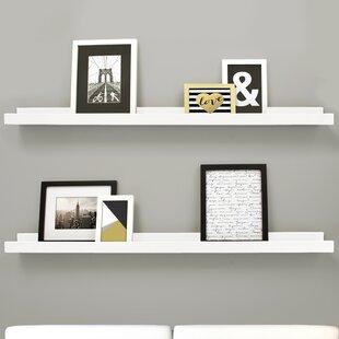 wall and display shelves