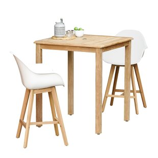 Cruce 3 Piece Bar Height Dining Set With Arms