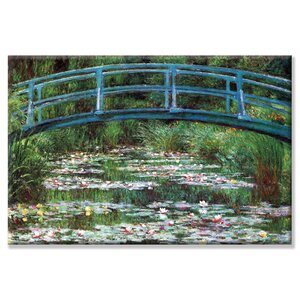 'Japanese Footbridge' by Claude Monet Painting Print on Wrapped Canvas by Buyenlarge