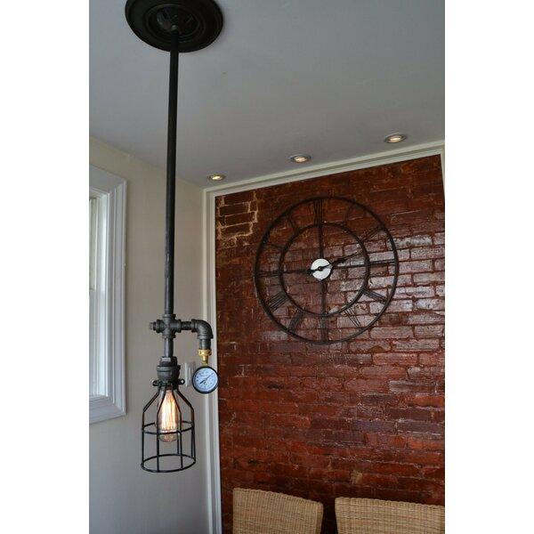 West ninth vintage industrial 1 light foyer pendant for Wayfair industrial lamp