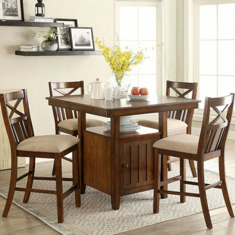 Charlton home render sturdy counter height solid wood dining table wayfair