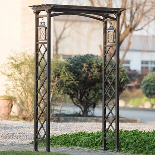 Metal Arbor With Lanterns