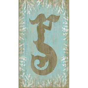'Wood Mermaid' Graphic Art Plaque by Beachcrest Home