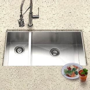 7030 kitchen sink wayfair contempo 33 x 18 zero radius undermount double bowl 7030 kitchen sink workwithnaturefo
