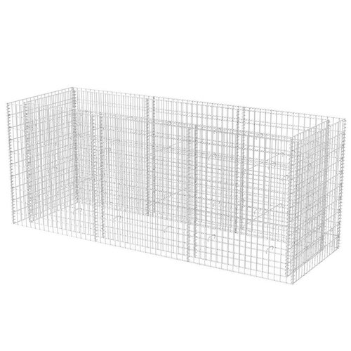 Metal Planter Box Symple Stuff Size: 100cm H x 270cm W x 90c