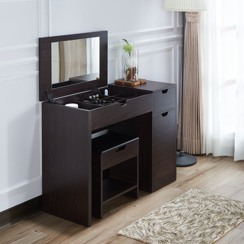 for set with small large bedroom table mirror ikea hidden drawers in vanity of lighted size ideas and