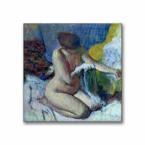 After the Bath by Edgar Degas Painting Print on Canvas by Trademark Fine Art