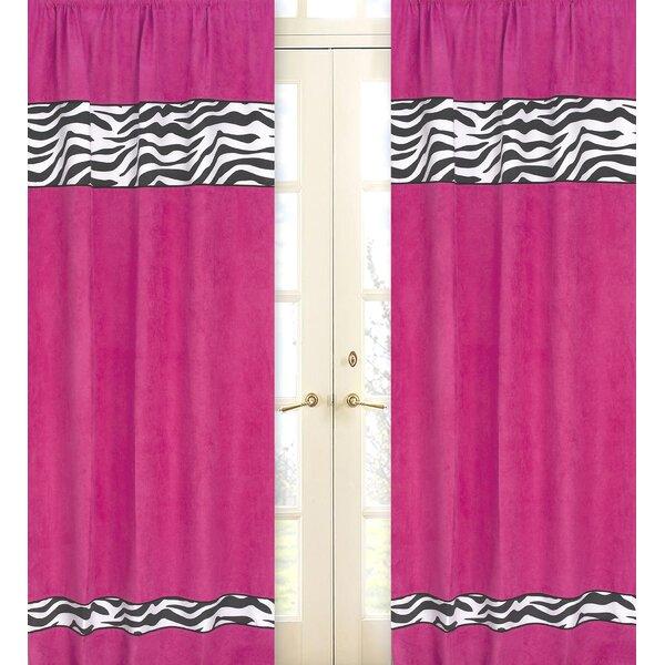 Retro Bedroom Lighting Sheer Curtains Bedroom Nautical Bedroom Decor Zebra Print Bedroom Decor: Sweet Jojo Designs Zebra Animal Print Semi-Sheer Rod