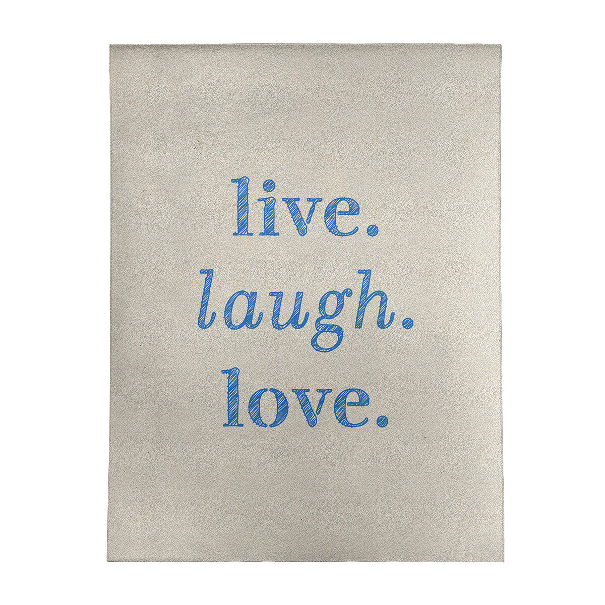 Handwritten Live Laugh Love Quote Poly Chenille Rug
