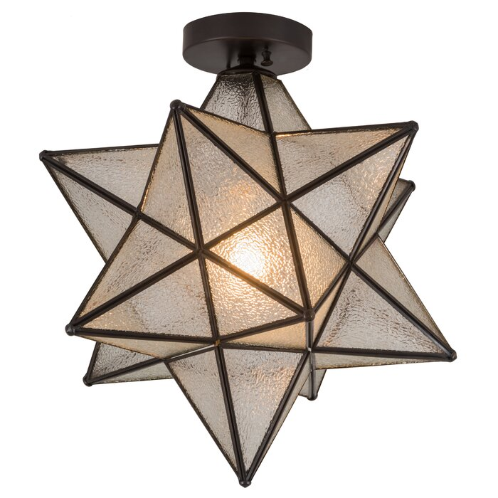 Rachal Moravian Star 1 Light Semi Flush Mount
