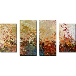 Wherever You Go by Mark Lawrence 4 Piece Painting Print on Wrapped Canvas Set by Picture Perfect International