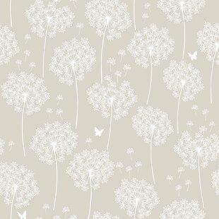 Floral botanical wallpaper youll love wayfair dandelion 18 x 205 taupe wallpaper roll mightylinksfo