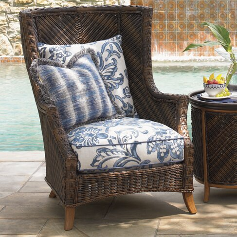 Tommy bahama outdoor island estate lanai patio chair with for Bahama towel chaise cover