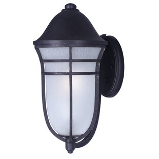 Compare prices Caleb 1-Light Outdoor Sconce By Darby Home Co