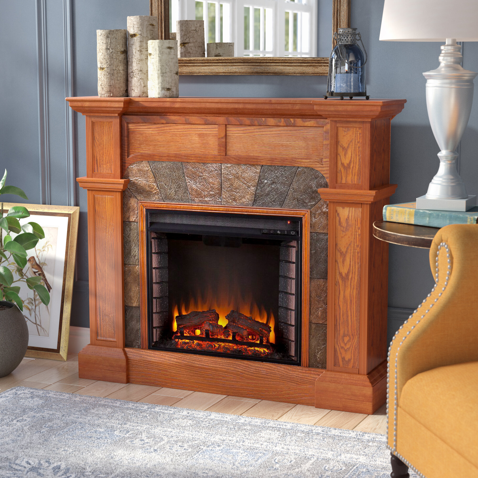 Three Posts Gaskins Market Electric Fireplace Amp Reviews