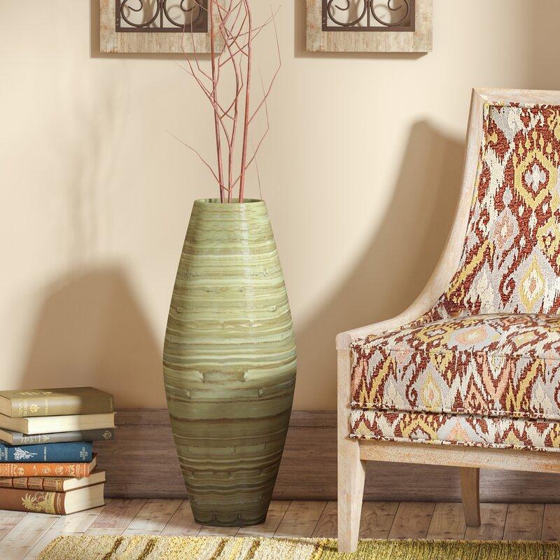 Bloomsbury Market Hand Crafted Tall Bamboo Floor Vase Wayfair