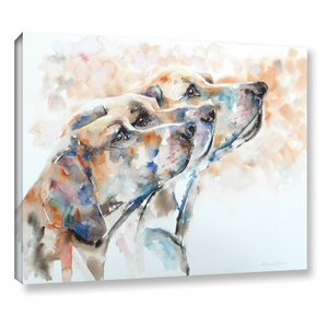 Hounds Painting Print on Wrapped Canvas by Latitude Run