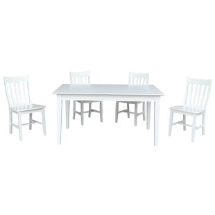 Oswald 5 Piece Extendable Solid Wood Dining Set By August Grove