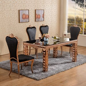 Diamond Dining Set With 6 Chairs