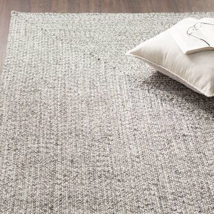 Kulpmont Hand-Braided Gray Indoor/Outdoor Area Rug by Wade Logan