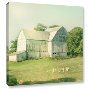 Farm Morning III Square Photographic Print on Wrapped Canvas by Laurel Foundry Modern Farmhouse