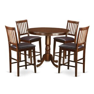 Compare prices Trenton 5 Piece Pub Table Set By Wooden Importers